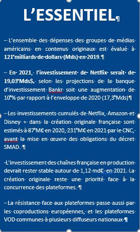 Acteurs français face à inflation t plateformes